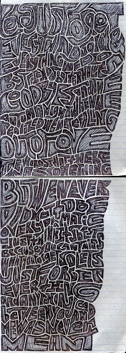 "ballpointbandit:  (all of the) Lyrics from ""Never Meant"" by American Football"