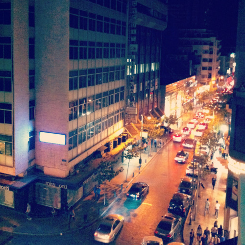 Hamra on a Friday night.