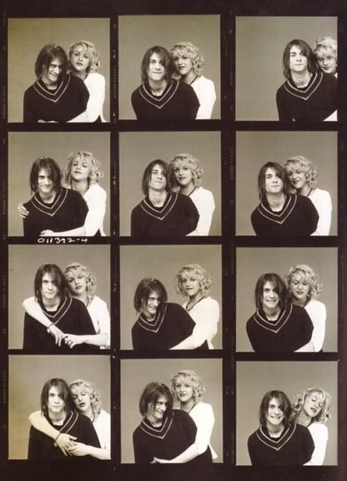 Kurt Cobain and Courtney Love photographed by Michael Levine for Sassy, 1993