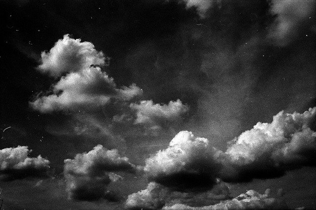 lumosphotos:  #218/365 Sky, clouds, scratches and dust by Jacopo Reggiani on Flickr.