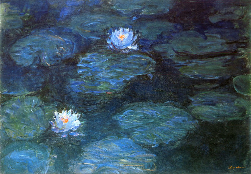 "thefieldjournal:  Claude Monet, ""Water Lilies"", 1899"