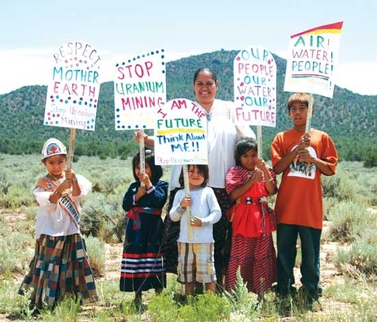 thepeoplesrecord:  Navajo Nation battles uranium corporations, nuclear industryMay 10, 2013 Since European settlers first arrived on this continent, they set out to accumulate as much wealth and land as humanly possible. Their reign of terror on the indigenous populations —destructive of land, culture and entire communities—was the basis for immense fortunes that spurred the global economy and advancing capitalism. This struggle, now over 500 years in the making, is ongoing on many fronts, including the Navajo Nation's current battle over U.S. companies' uranium extraction. In early 2013, uranium companies approached the Navajo Nation in hopes they will allow them to renew mining operations on their land. These companies claim that they have developed newer and safer methods for extracting uranium, after decades of environmental destruction and abuse led the Navajo Nation to officially ban their mining. This decades-long battle for environmental justice is part and parcel of the struggles for workers' rights and Native self-determination, and against the forces of militarism and capitalism. Exploitation of Navajo lands The Navajo Nation sits on 27,425 square miles in the four corners area of the southwestern United States. The area holds a vast amount of uranium ore and thus has become a center in the struggle over nuclear energy and weaponry. Since the end of World War II, and the onset of the so-called Cold War, the U.S. government began mining uranium domestically in order to not rely on foreign supplies. Uranium is one of the most common naturally occurring radioactive metals on the planet, and was understood as essential for the development of nuclear weapons and technology. Due to the unique geology and consistent climate of the Southwest, mining companies saw the Navajo reservation as the most profitable site to open mining operations in the 1940s. In 1948, the United States Atomic Energy Commission declared it would be the sole purchaser of all uranium mined in the country, initiating a mining boom of private companies and contractors who knew they had a guaranteed buyer. Of the thousands of uranium mines, 92% were located in the Colorado Plateau on which the Navajo Nation is located. Between 1944 and 1986 approximately 4 million tons of uranium ore was mined from Navajo Tribal land. In the early days of mining, Navajo people flocked to the low-wage work given the scarcity of jobs around the reservation. The Navajo workers dealt with racist bosses and coworkers while going into the most dangerous and undesirable jobs at lesser pay. Nonetheless, after Navajo Code Talkers' had famously contributed to U.S. forces in World War II, many Navajo workers believed they had a patriotic duty and responsibility to the United States. Mineworkers were also lied to about the dangers of Radon poisoning. Full article