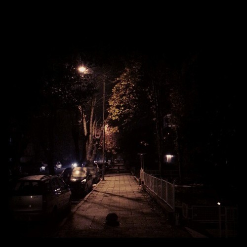 My nightly walk in Tandoğan, Ankara.