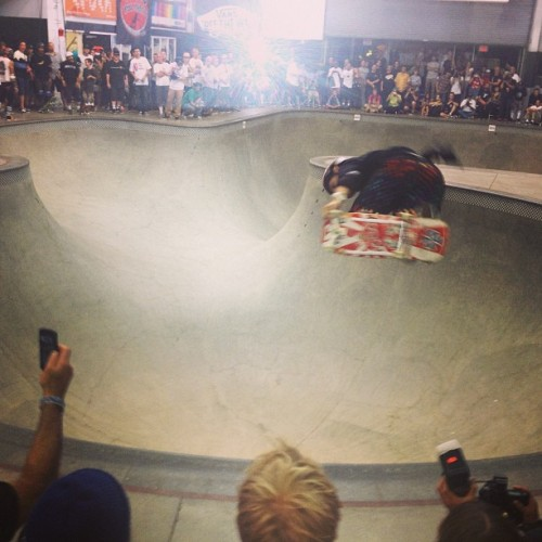 Todays Office: Christian Hosoi killin' tonight at the Vans Pool Party.