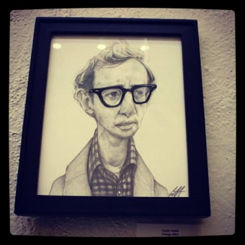 Woody has found a new home.  #cuylersmith #gallery1988 #woodyallen #illustration