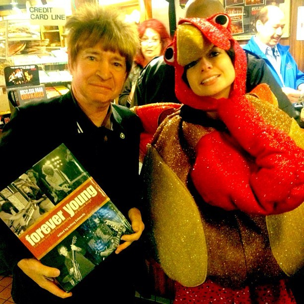 On Thanksgiving I dressed up like a turkey and met Rodney Bingenheimer.
