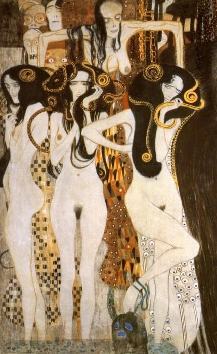 mementomoriiv:  Gustav Klimt - Three Gorgons, Sickness, Madness and Death