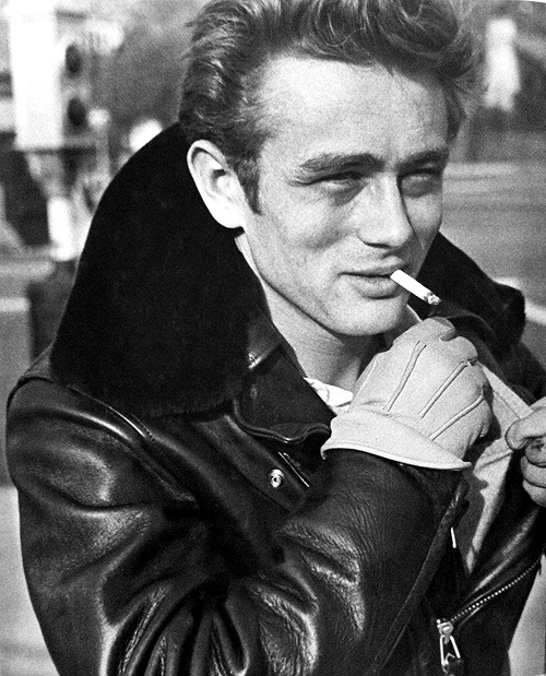 James Dean photographed by Phil Stern, 1955.