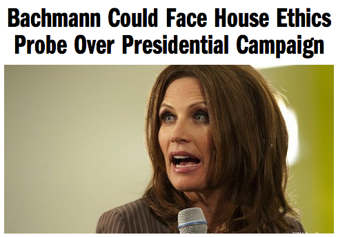 Rep. Michele Bachmann (R-MN) could face a House Ethics Committee investigation into alleged campaign finance violations during her bid for the Republican presidential nomination last year.