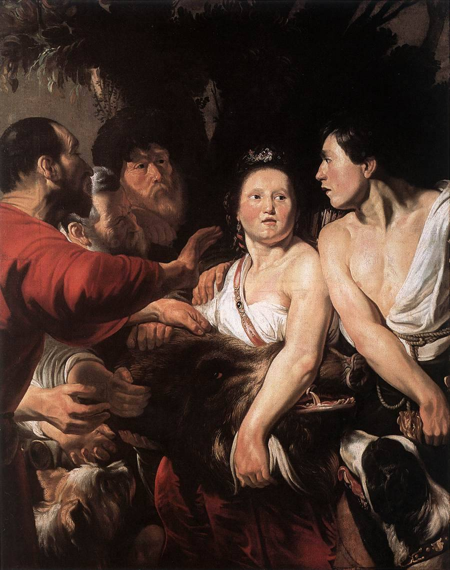 Jacob JORDAENS [Flemish Baroque Era Painter, 1593-1678] Meleager and Atalanta1618Oil on canvas, 152 x 120 cmKoninklijk Museum voor Schone Kunsten, Antwerp