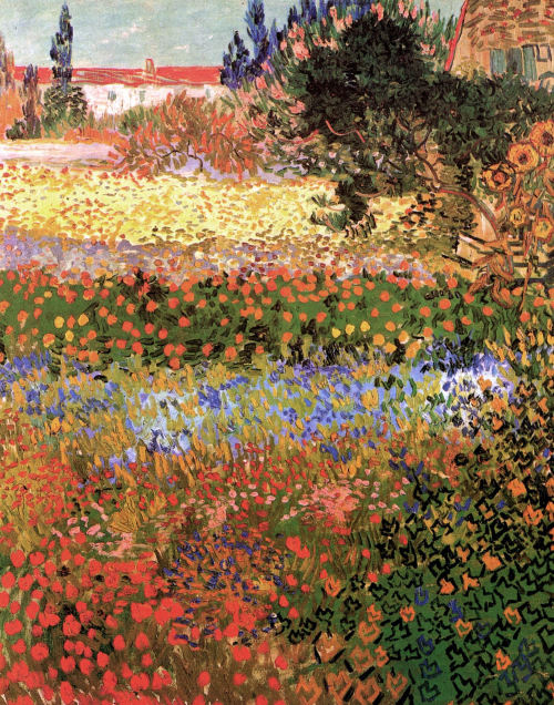 dadokocer:  fleurdulys:  Flowering Garden - Vincent van Gogh 1888   I've got to admit, I love any and all things Van Gogh.