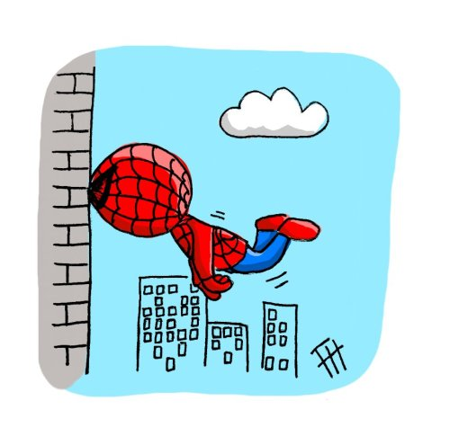 spider-ham, testing out his new contact lenses.
