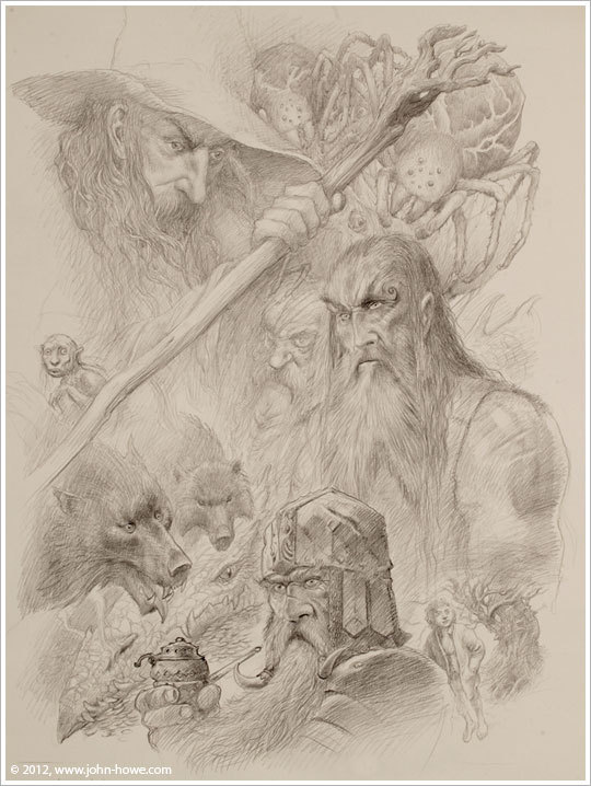 john howe writing and drawing journals