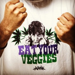 Yo! It's the 'Eat Your Veggies' tee by #kalakari! Cop yours today at kalakaricollective.com/shop before they sell out! #kalakari #eatyourveggies #streetwear #tees #tshirts #graphictees #streetart #style #bollyhood #art #funny #parody #purple #trees #herb #maryjane #merijaan #sabzi