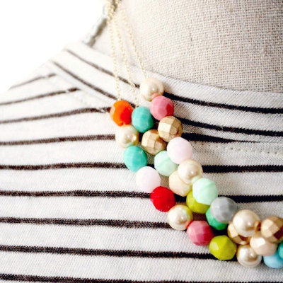nestprettythings:  Multi Strand Necklace by Nest Pretty Things