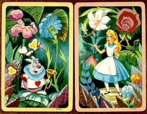 fortunecookied:  Alice in Wonderland Playing Cards Western Product (USA) 1951