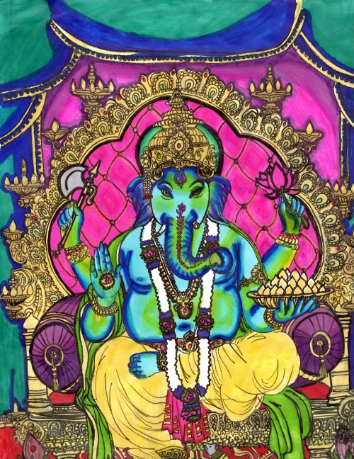 boomintruman:  My drawing (Ganesh)
