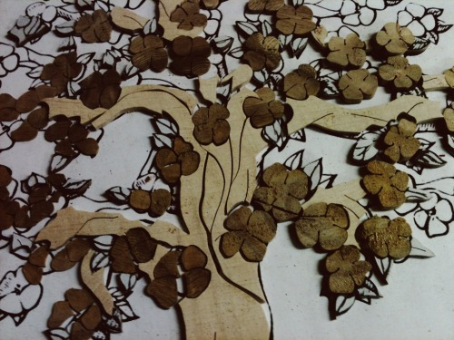 sierrawoodcraft:  SIERRA WOODCRAFT - tree of life - reclaimed maple & orange