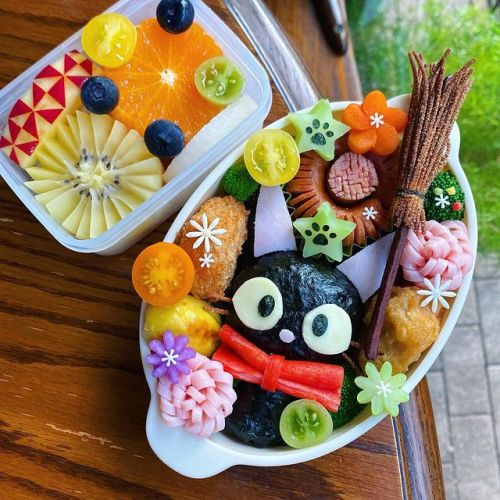 by  mami.o0//chiha_ru322 #anime bento#bento #kikis delivery service #studio ghibli#ghibli#anime#ghibli bento