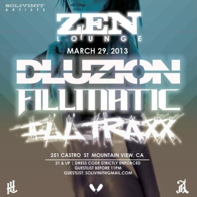 Next Friday, in motherfuckin Mountain view with my boys @illtraxxhl and DLuzion at Zen. Be there.
