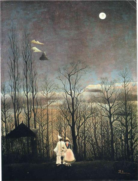 thesavagesgallery:  Henri Rousseau (1844-1910) Carnival Evening, 1885-1886. Oil on canvas. Philadelphia Museum of Art, Philadelphia, PA, USA