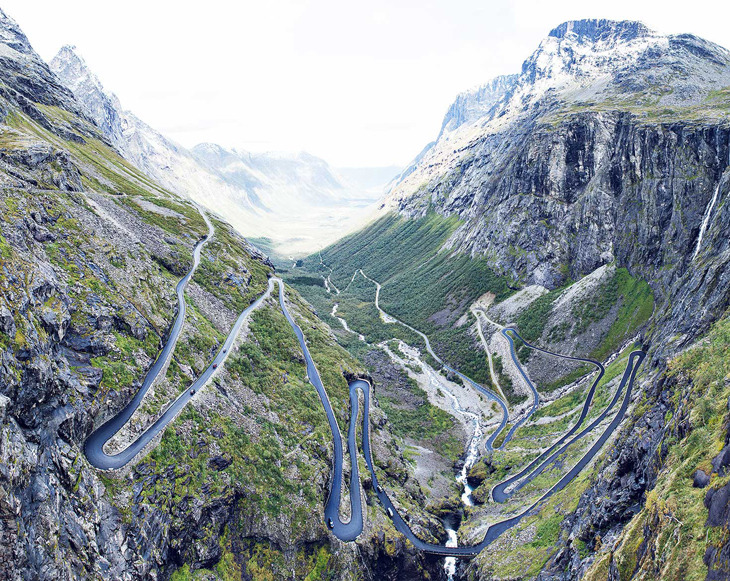 ovir:  Trollstigen Pass, Norway. (via Pannier). Captured by Paul Calver. Definitely a nice climb.