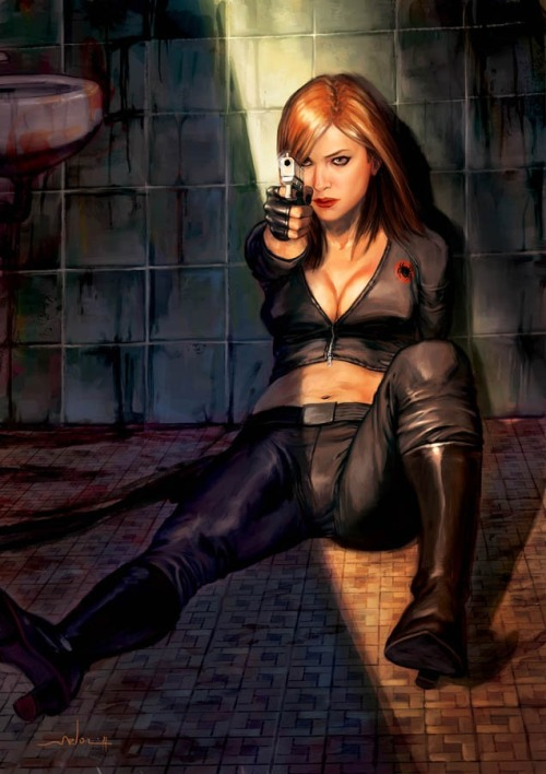amyzzombie:  Black Widow by Andrea Meloni