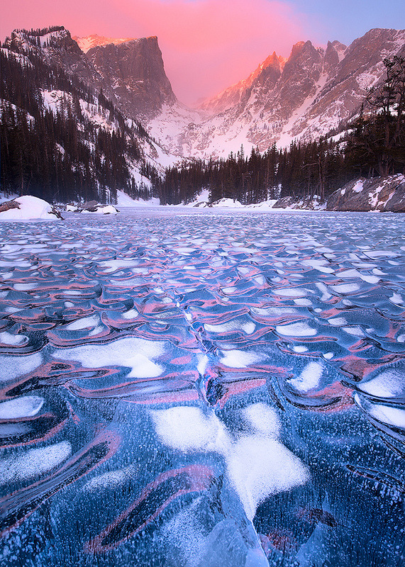 vurtual:  Iced Dream (by wboland)Dream Lake, Rocky Mountain National Park.