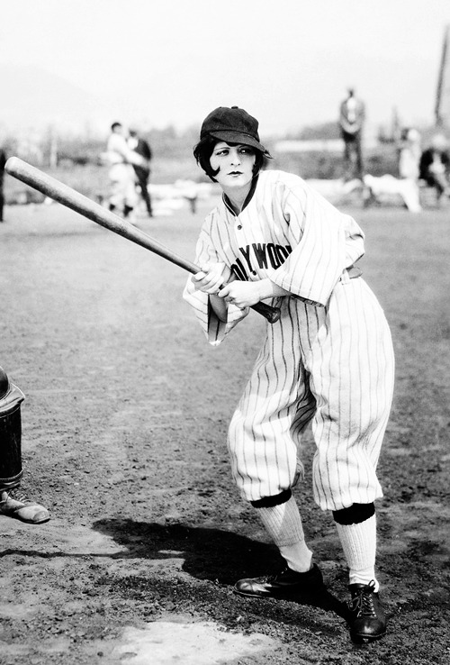 vintagegal:  Clara Bow playing baseball c. 1926