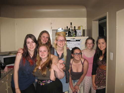 girlintheslayerjacket:  Heavy metal UVic girls of 2012/2013. and Hilary in her PJ's. I love all them   \m/