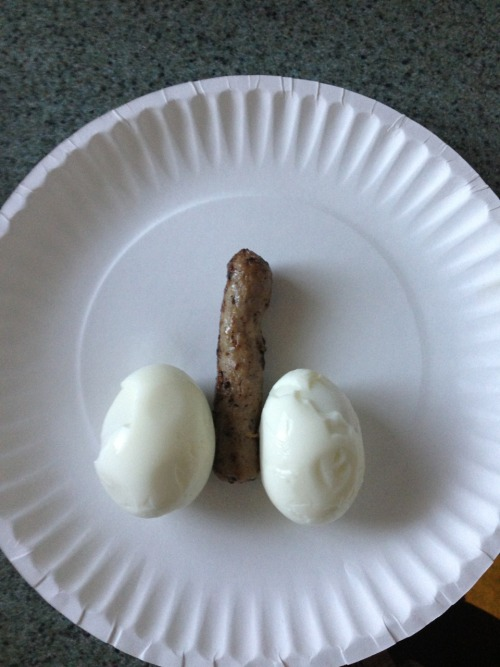 My breakfast was such a dick this morning.
