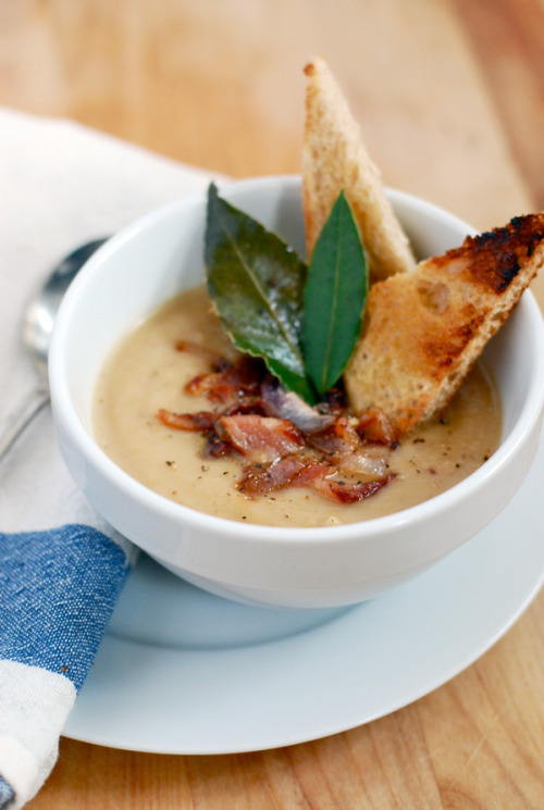 foodopia:  roasted parsnip soup with bacon and shallots: recipe here