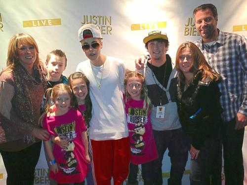 Another picture of Justin at Meet and Greet in Denver.
