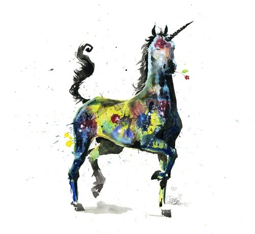 threadless:  Unicorn is just one of many beautiful designs in Lora Zombie's Made Collection!