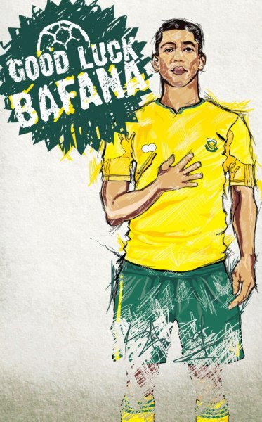 southafricantvads:  Good Luck Bafana Design by Dali Gaga with Puma and Adidas tendencies