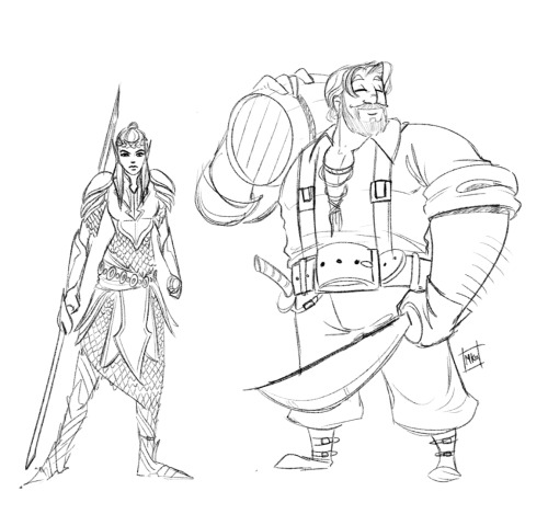 Two uploads in one day?! You lucky buggers Some doodles of DnD characters to be