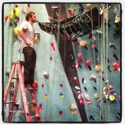 BKBeasts climbathon #hammock @athomako  (at Brooklyn Boulders)