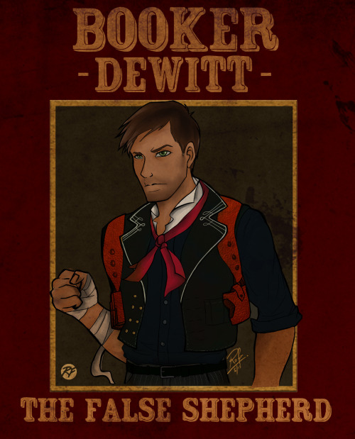 Booker DeWitt from Bioshock Infinite.Art by Rofer96