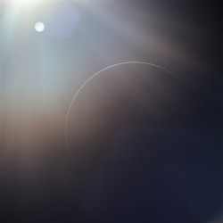 Earth as a sliver, photographed by the crew of Apollo 12 during their return from the Moon in November, 1969. Edited by yours truly since the original scan has a nasty colour cast on it.
