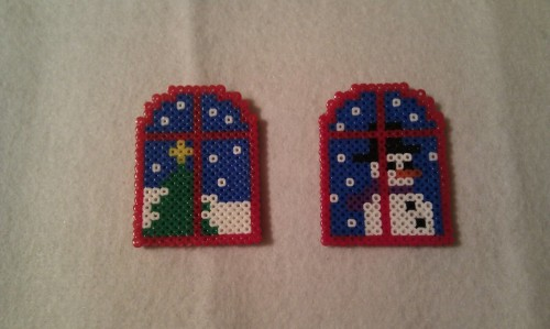 Christmas Windows - Hama Beads