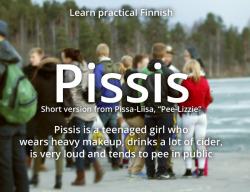 finland Finnish finnish language pissis