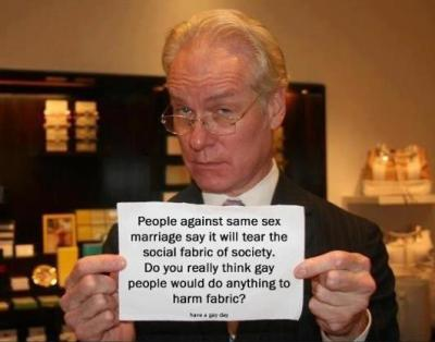 Here's Tim Gunn with a few words on the social fabric and gay people.
