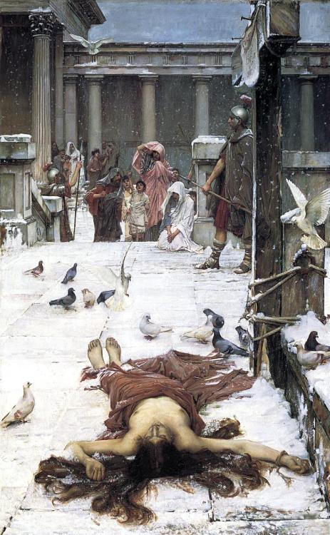 Saint Eulalia - John William Waterhouse 1885