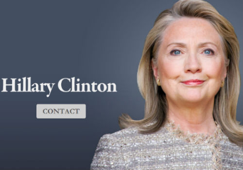 HillaryClintonOffice.com is live. You can email her. You cannot text her.