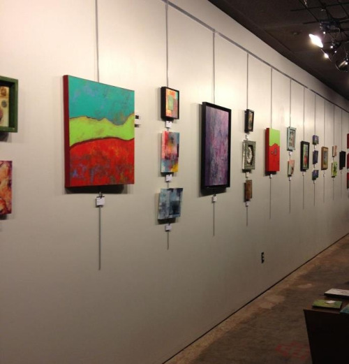 A glimpse at the Greenhouse Group Show that starts tomorrow during Live on the Plaza at The Parish here in OKC!