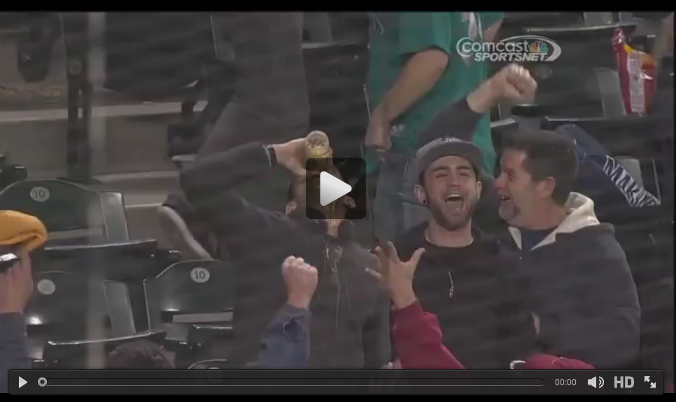 Mariners Fan Catches Foul Ball In Beer, Chugs Beer.