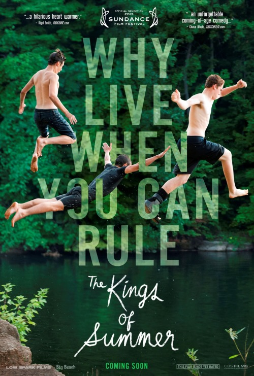 Quoted on the festival poster for THE KINGS OF SUMMER. Humbly honored - this movie is one of my favorites of the year.