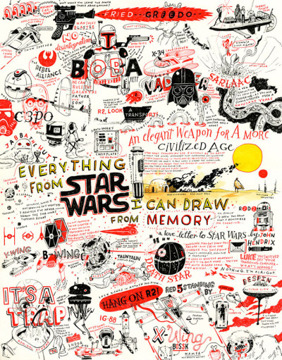 laughingsquid:  Everything From Star Wars I Can Draw From Memory by John Hendrix