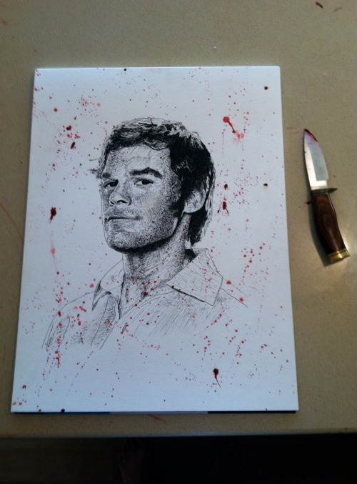 Dexter Drawing by Brian W. Moreland