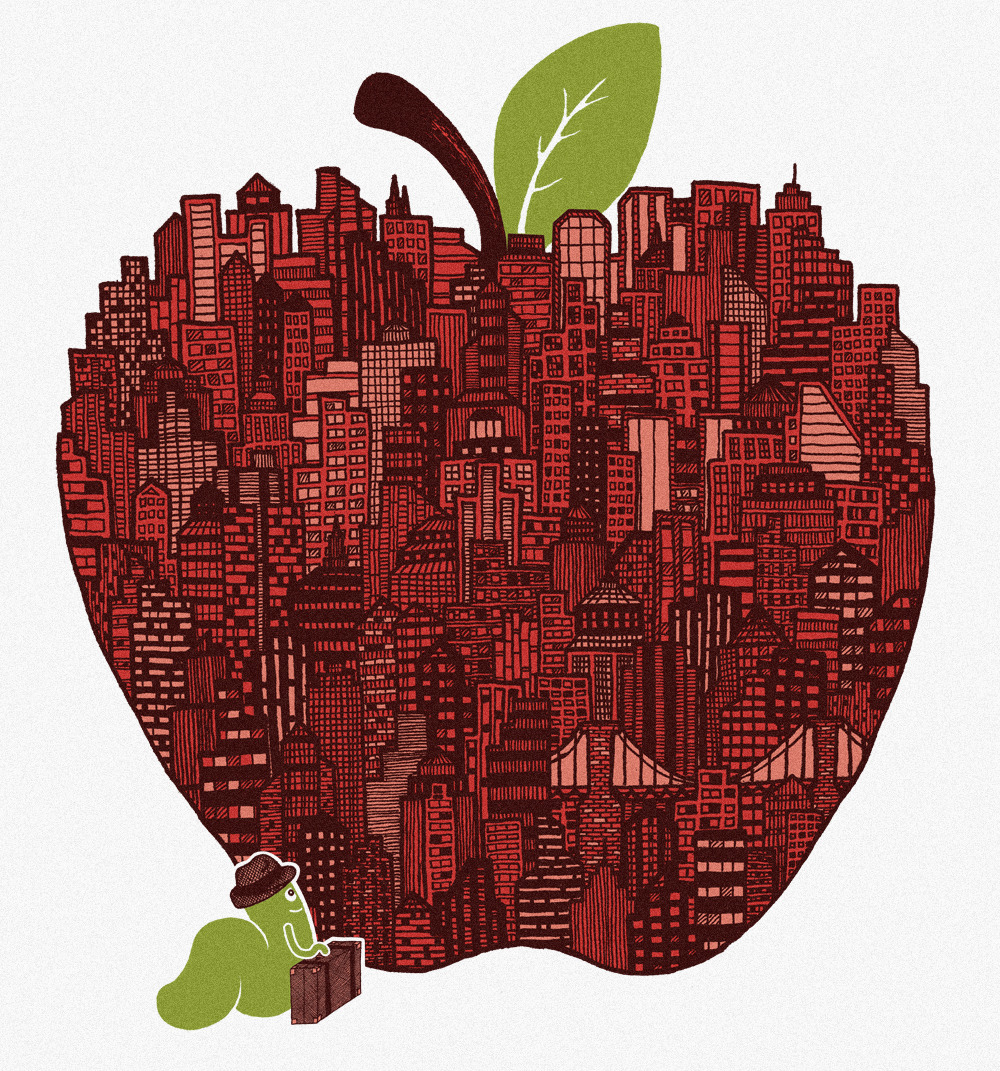 threadless:  jjjjeremy:  Little Worm, Big Apple  Score some submissions and help designs like this get printed!